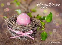 Free eCards - Easter Pink Eggs,