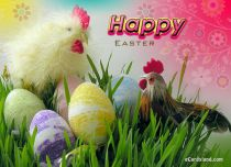 eCards - Easter Roosters,