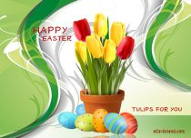 eCards Easter Easter Tulips for You, Easter Tulips for You