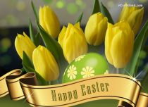 Free eCards, Easter cards messages - Easter Tulips Greeting eCard,