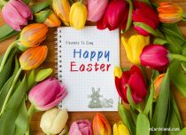 eCards  Flowers To Say Happy Easter,