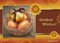 eCards Easter Golden Wishes, Golden Wishes