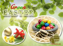 Free eCards, Easter cards messages - Green Easter,
