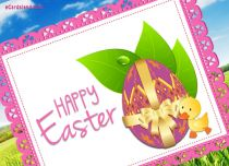 Free eCards - Happy Easter Duck eCard,