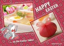 eCards Easter On the Easter Table, On the Easter Table
