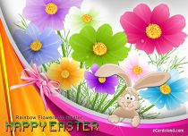 eCards Easter Rainbow Flowers for Easter, Rainbow Flowers for Easter