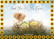 eCards Easter Thank You For Your Easter, Thank You For Your Easter