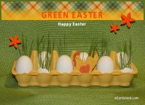eCards Easter Green Easter, Green Easter