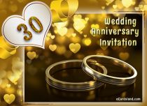 Free eCards, Free invitations ecards - 30th Wedding Anniversary Invitation,