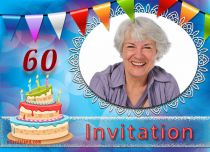 Free eCards, Free invitations ecards - 60th Birthday Invitation,