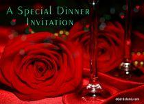 Free eCards Invitations - A Special Dinner Invitation,