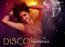 Free eCards, Free invitations ecards - Disco Invitation,