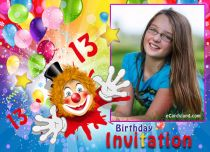 Free eCards, Free invitations ecards - Fun 13th Birthday Invitation,