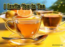 Free eCards Invitations - I Invite You to Tea,