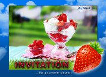 Free eCards, Free invitations ecards - Invitation for a Summer Dessert,