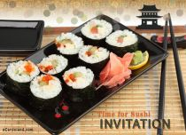 Free eCards, Free invitations ecards - Sushi Time,