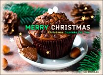 Free eCards, Merry Christmas e-cards - Christmas Cupcake for You!,