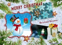 Free eCards, Merry Christmas cards - Christmas Snowman,