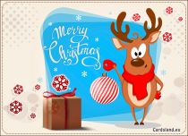 Free eCards, Christmas cards messages - Joyful Reindeer,