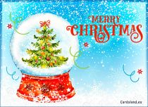 Free eCards, Free Santa Claus cards - Magic Christmas Tree,