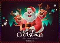 Free eCards, Free Santa Claus cards - Santa Wishes Merry Christmas,