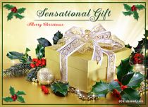 Free eCards, Free Merry Christmas ecards - Sensational Gift,