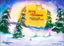 Free eCards, e-Cards with music - Winter Came and Christmas,