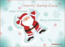 eCards Christmas Cheerful Santa Claus, Cheerful Santa Claus