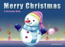 eCards Christmas Cheerful Snowman, Cheerful Snowman