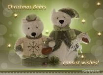 Free eCards - Christmas Bears,