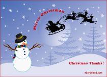 eCards Christmas Christmas Thanks, Christmas Thanks