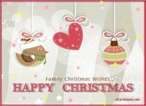 eCards - Family Christmas Wishes,