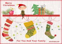 eCards Christmas For You And Your Family, For You And Your Family