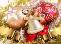 Free eCards - Golden Christmas,