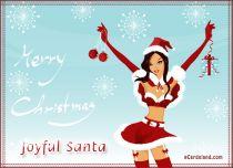 eCards Christmas Joyful Santa, Joyful Santa