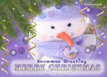 eCards  Snowman and Greeting,