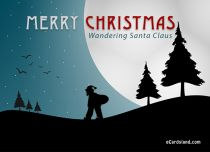 Free eCards - Wandering Santa Claus,