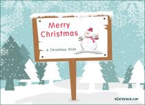eCards Christmas Snowy Wishes, Snowy Wishes
