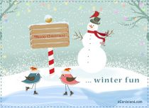 eCards Christmas Winter Fun, Winter Fun