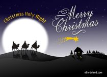 eCards Christmas Christmas Holy Night, Christmas Holy Night