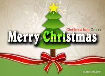 eCards  Christmas Tree Green,