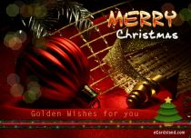 eCards Christmas Golden Wishes for You, Golden Wishes for You