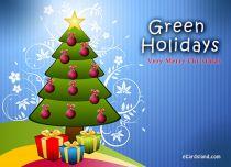 eCards Christmas Green Holidays, Green Holidays