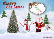 eCards Christmas Ho ho ho, Ho ho ho