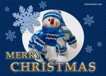 eCards Christmas Snowman and Greeting, Snowman and Greeting