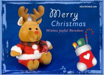 eCards  Wishes Joyful Reindeer,