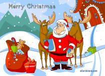 Free eCards - e-Card from Santa Claus,