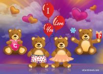 eCards Love Bears in Love, Bears in Love