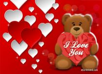 eCards Love Teddy Bear with Heart, Teddy Bear with Heart