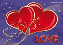 eCards Love Two Hearts eCard, Two Hearts eCard